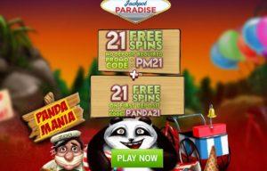 panda mania jackpot paradise offer